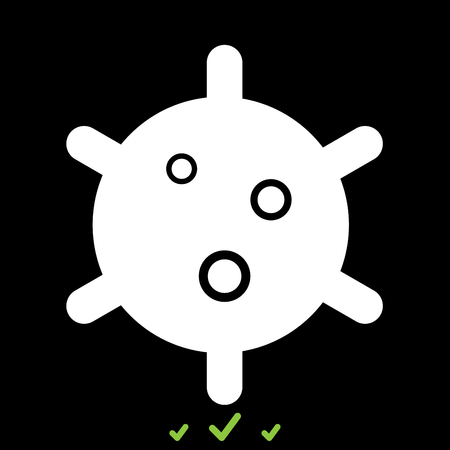 Virus it is white icon . Flat style