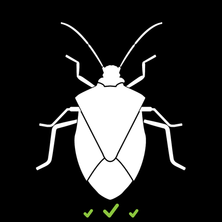 Bug it is white icon . Flat style
