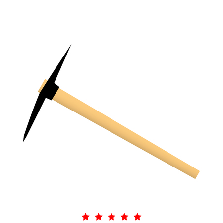 Pickaxe icon . It is It is flat style