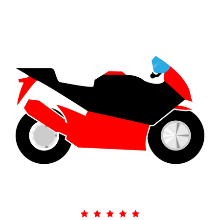 Motorcycle icon . It is flat style Illustration