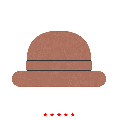 Vintage top hat icon . It is flat style Illustration