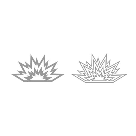 Explosion icon. It is grey set .
