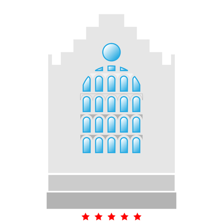 Church building icon . It is flat style Illustration