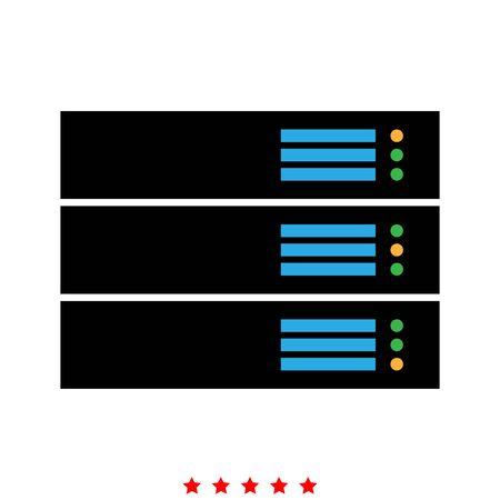 Server icon . It is flat style Illustration