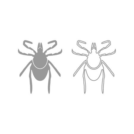 Tick icon. It is grey set .