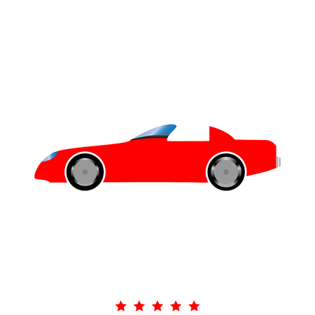 Car icon . It is flat style Stock Illustratie