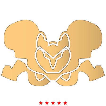 Pelvis skeleton icon . It is flat style Illusztráció