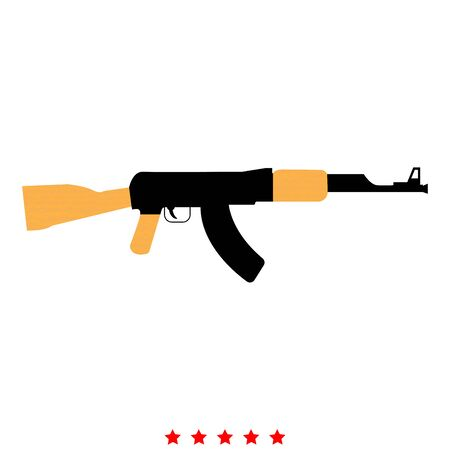 Assault rifle icon . It is flat style Иллюстрация