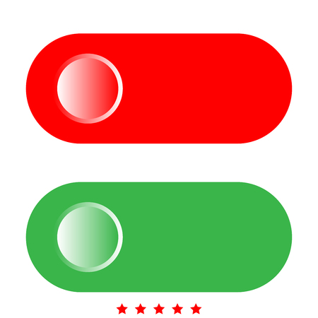 Toggle switch icon . It is flat style Illustration