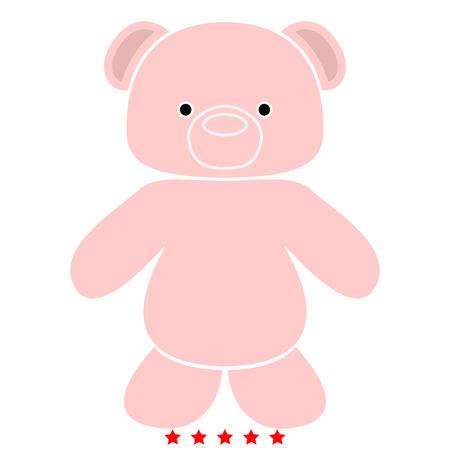 Little bear icon . It is flat style Illustration