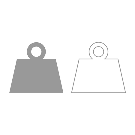 Weight icon. It is grey set .