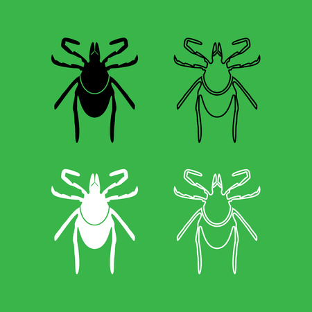 Tick icon black and white color set .
