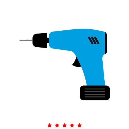 Screwdriver icon . Different color . Simple style .