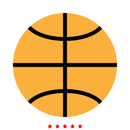 Basketball ball icon . Different color . Simple style . Vectores