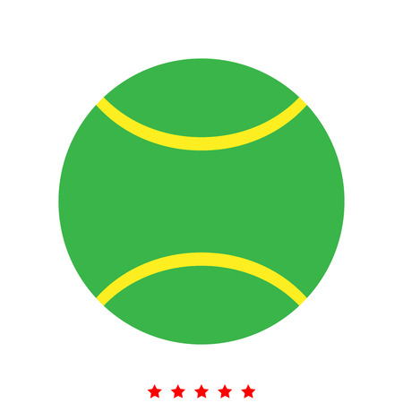 Tennis ball icon . Different color . Simple style .