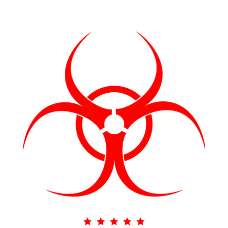 Biological danger icon . Different color . Simple style . Illustration