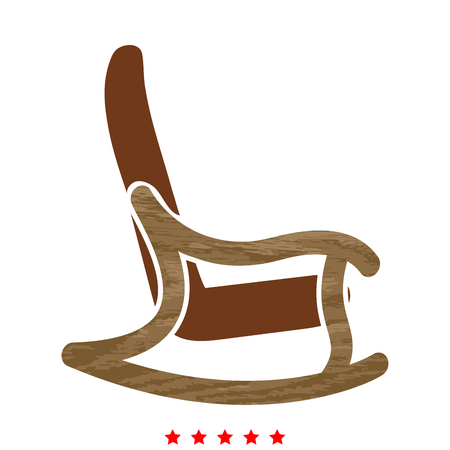 Rocking chair icon. Vettoriali