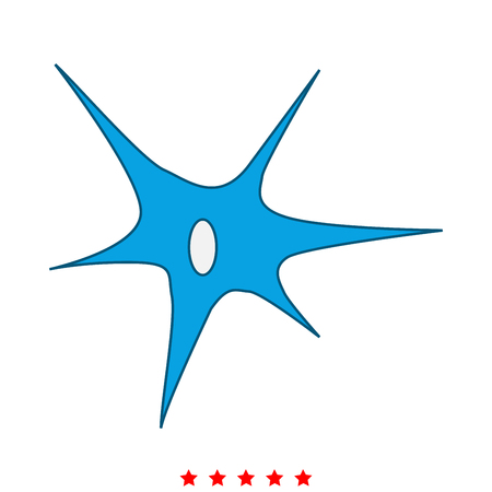 Nerve cell icon. Illustration