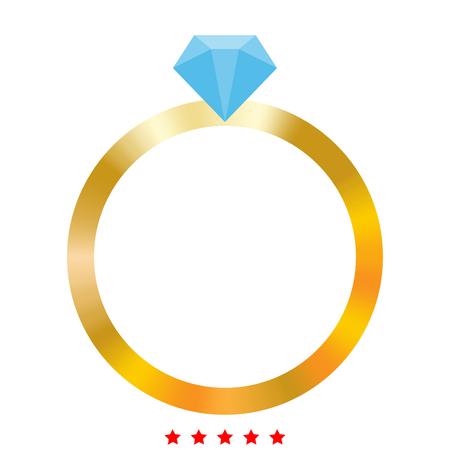 Ring icon. Illustration