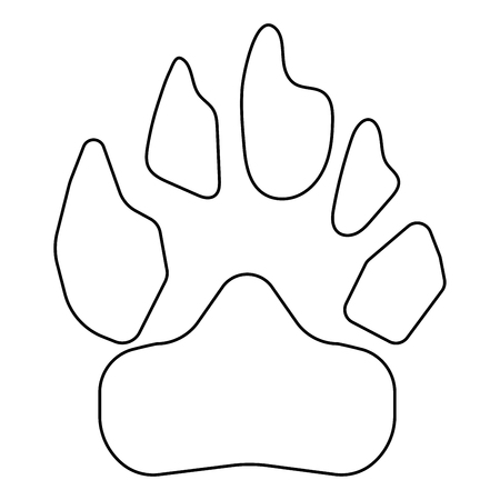 Animal footprint icon . Illustration