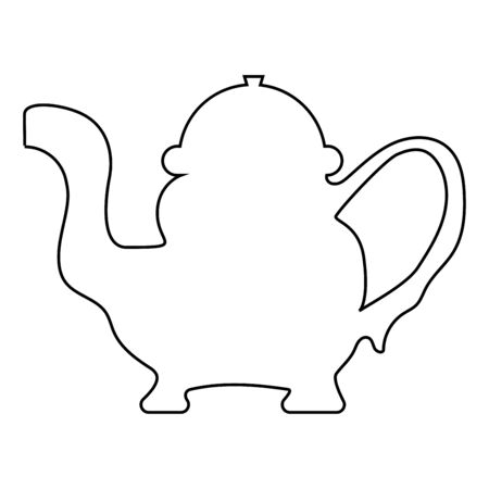 Teapot icon flat illustration.