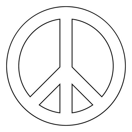 World peace sign symbol icon flat illustration.