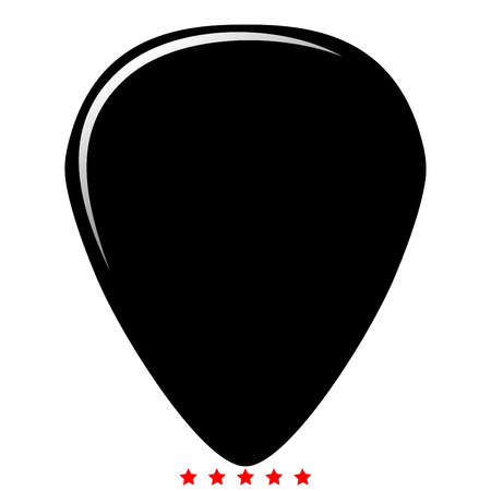 Mediator for guitar icon Illustration color fill simple style