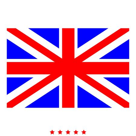 Flag united kingdom icon Illustration color fill simple style
