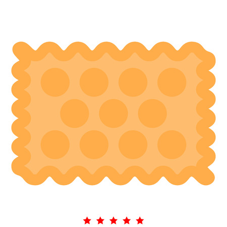 Cookie icon Illustration color fill simple style