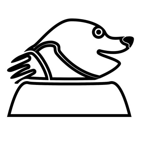 Mole black color icon Illustration