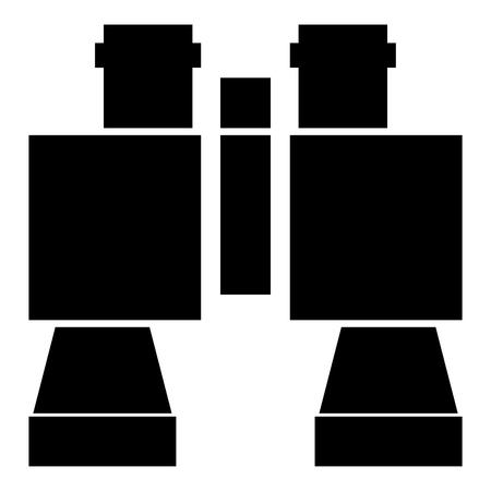 Binoculars icon black color vector illustration flat style