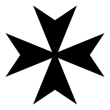 Ilustración de vector de icono de cruz de Malta