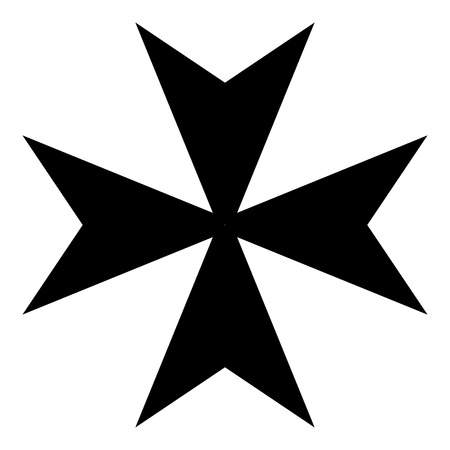 Maltese cross icon vector illustration