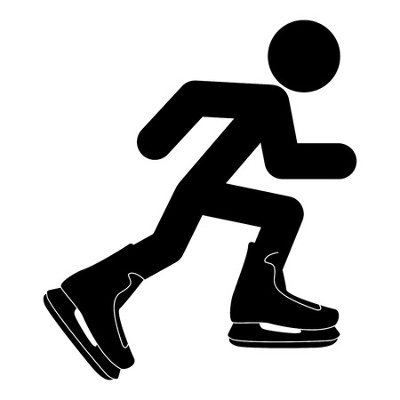 Skater icon black color vector illustration flat style