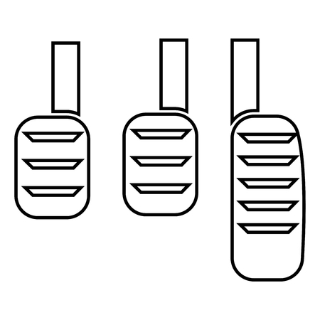 Pedal icon black color vector illustration flat style simple image Banco de Imagens - 97731883