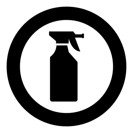Household chemicals  icon black color in circle or round vector illustration Ilustrace