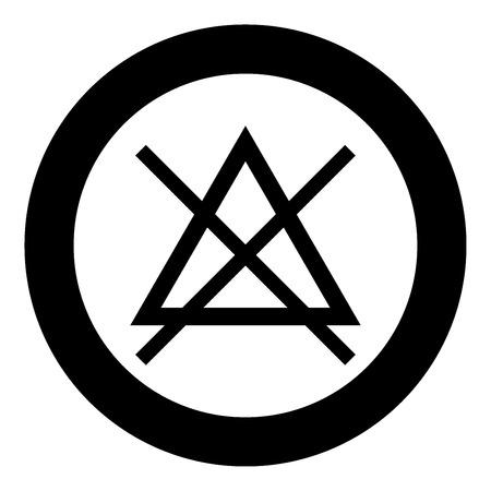 Il simbolo non candeggia il colore nero dell'icona nell'illustrazione di vettore del cerchio isolata