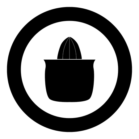 Juicer squeezer black icon in circle vector illustration isolated flat style .