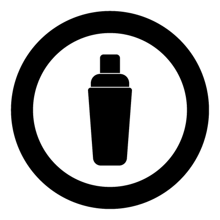 Shaker icon black color in circle vector illustration isolated