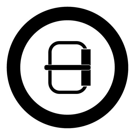 Buckle  icon black color in circle vector illustration isolated