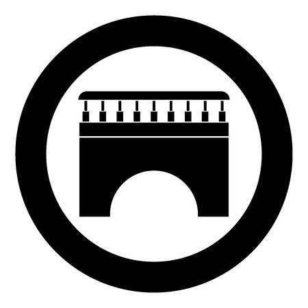 Bridge icon black color in circle vector illustration isolated Illusztráció