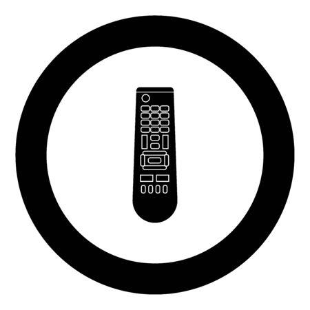 Remote control panel icon black color in circle vector illustration isolated Stock Illustratie