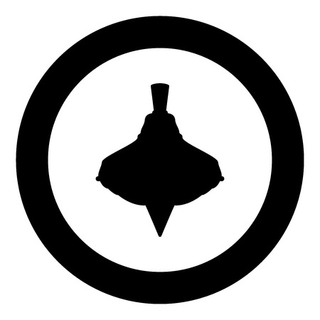 Whirligig black icon in circle vector illustration isolated Ilustrace