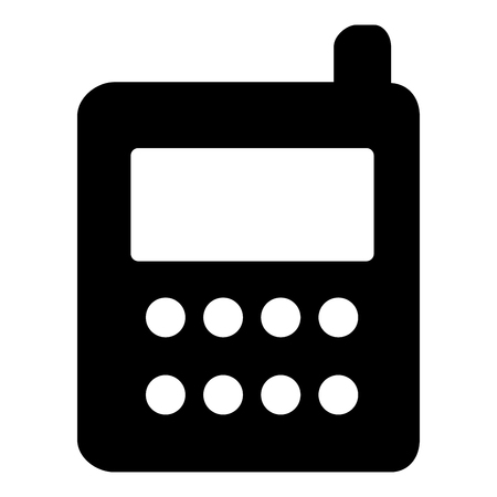 Phone icon  vector illustration isolated icon black color vector illustration isolated Illustration