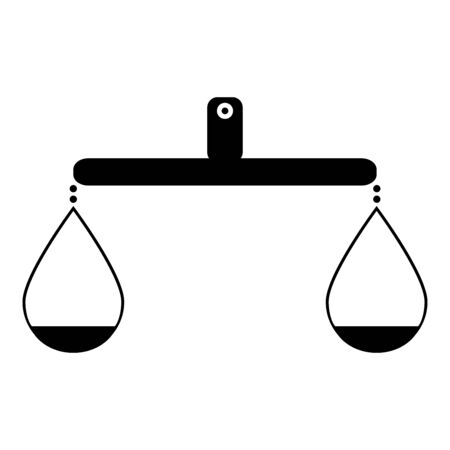 Balance or libra   icon black color vector illustration isolated Illustration