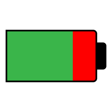 Battery condition charge part empty   icon  color vector illustration isolated Ilustrace