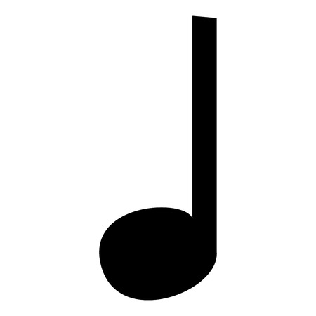 music note icon icon black color vector illustration isolated rh 123rf com Phone Icon Vector Paintbrush Icon Vector