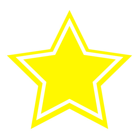 Star icon yellow color   vector illustration isolated