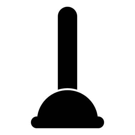 Toilet plunger sanitary tools household cleaning icon black color vector illustration flat style simple image Stock fotó - 101045502
