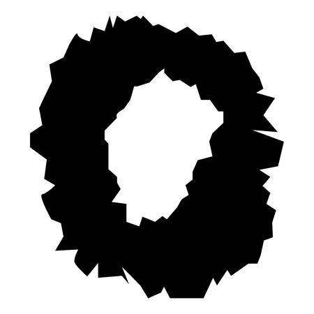 Hole in the surface icon black color vector illustration flat style simple image